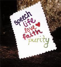 faith love purity